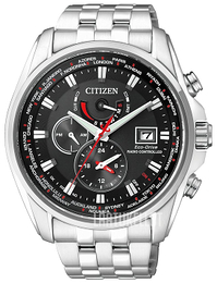 Citizen Radio Controlled Musta/Teräs Ø44 mm AT9030-55E