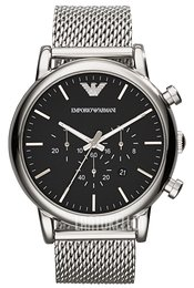 Emporio Armani Dress Musta/Teräs Ø46 mm AR1808