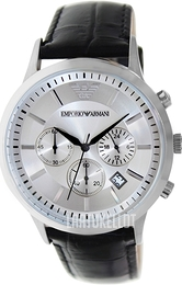 Emporio Armani Dress Hopea/Nahka Ø43 mm AR2432
