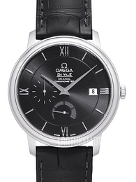 Omega De Ville Prestige Co-Axial Power Reserve 39.5mm Musta/Nahka Ø39.5 mm 424.13.40.21.01.001