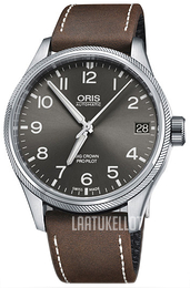 Oris Aviation Harmaa/Nahka Ø41 mm 01 751 7697 4063-07 5 20 05FC