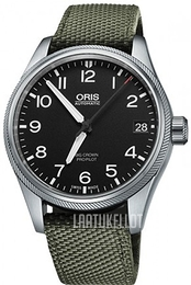 Oris Oris Aviation Musta/Tekstiili Ø41 mm 01 751 7697 4164-07 5 20 14FC