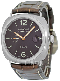 Panerai Historic Radiomir 8 Days Ruskea/Nahka Ø45 mm PAM 346