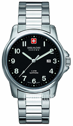 Swiss Military Dress Musta/Teräs Ø39 mm 06-5231.04.007