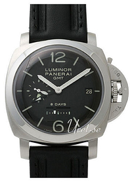 Panerai Historic Luminor 1950 8 Days GMT Musta/Nahka Ø44 mm PAM 233