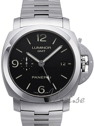 Panerai Contemporary Luminor 1950 3 Days GMT Automatic Musta/Teräs Ø44 mm PAM 329