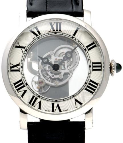 Cartier Rotonde De Cartier Miesten kello W1556249 Hopea/Nahka Ø43.5