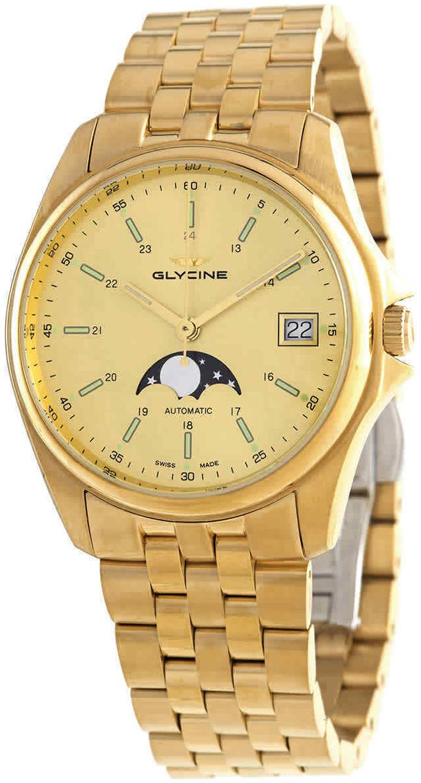 Glycine Combat Miesten kello GL0247 Keltainen/Kullanvärinen teräs