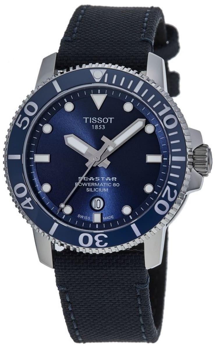 Tissot Seastar 1000 Miesten kello T120.407.17.041.01 Sininen/Kumi