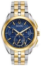 Bulova Bracelet Sininen/Kullansävytetty teräs Ø45 mm