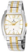 Bulova Bracelet Valkoinen/Kullansävytetty teräs