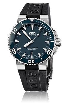 Oris Divers Aquis Date Sininen/Kumi Ø43 mm