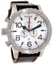 Nixon The 51-30 Leather Valkoinen/Nahka Ø51 mm