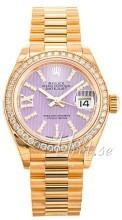 Rolex Lady-Datejust 28 Violetti/18K keltakultaa Ø28 mm